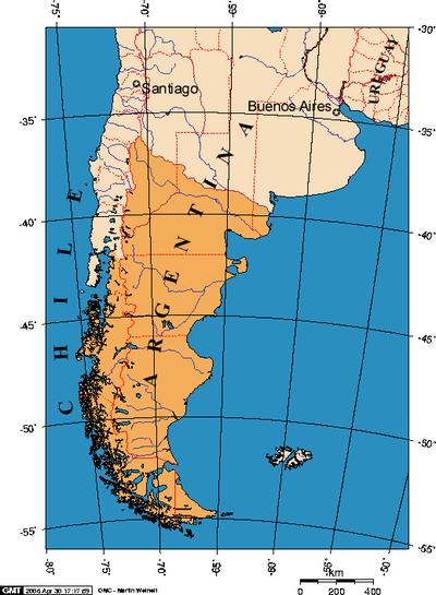 Patagonien Highlights Karte.Greater Patagonian Trail Wikiexplora